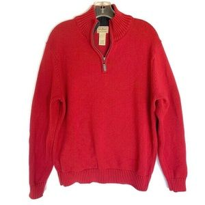 L.L.Bean sweater size medium red